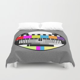 Television Color Test Duvet Cover