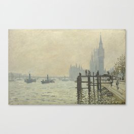 The Thames below Westminster by Claude Monet Canvas Print
