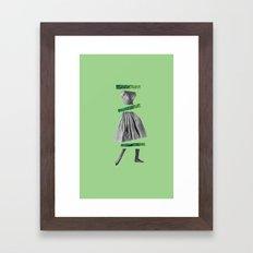 Girly Green Framed Art Print