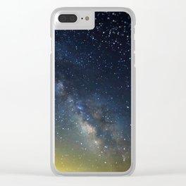 Milky Way bokeh Clear iPhone Case