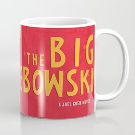 The Big Lebowski - Movie Poster, Coen brothers film, Jeff Bridges, John Turturro, bowling Coffee Mug