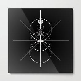 Arrows and circles Metal Print