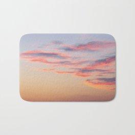 Sunset Burning Clouds Sky Bath Mat