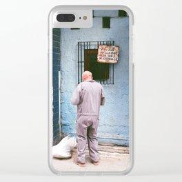 A cuban man Clear iPhone Case