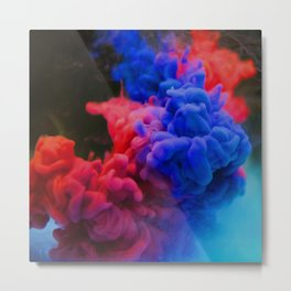 Colorful Smoke Screen Metal Print