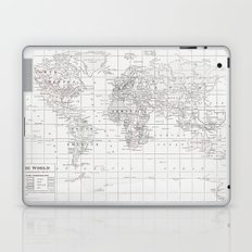 World Map ~ White on White Laptop & iPad Skin