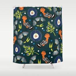 Hoopoe, bird pattern design Shower Curtain