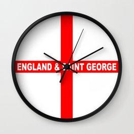 Flag of England and Saint George Wall Clock