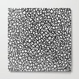 Staklo (Black) Metal Print
