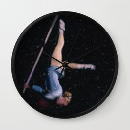 Aerial Acrobat Wall Clock