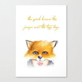 The Quick Brown Fox Canvas Print