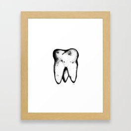 Tooth.  Framed Art Print