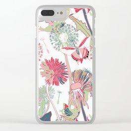 dandelions vintage Clear iPhone Case