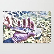 Fish Hand Canvas Print
