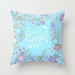 Turquoise Sparkle And Shine Throw Pillow