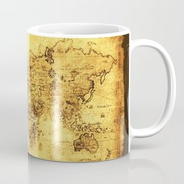 Arty Vintage Old World Map Coffee Mug
