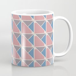 Retro Geometry surface pattern (Blue-pink) Coffee Mug