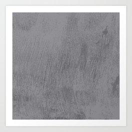 Textured Gray Art Print