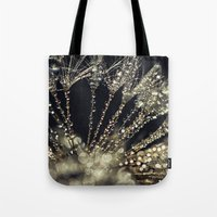 gold glitter Tote Bags featuring glitter and gold by Bonnie Jakobsen-Martin