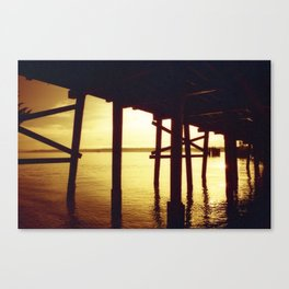 Tropical Pier Canvas Print