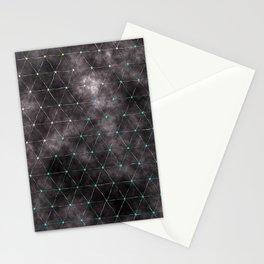 Galaxy - modern abstract dark grunge triangles pattern Stationery Cards