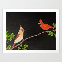 Cardinal Birds Print Art Print