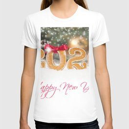 Desktop Wallpapers New year English Snow lettering T-shirt