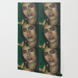 Lady in Green Wallpaper