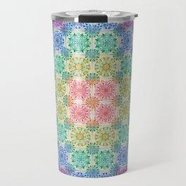 Mandala Patchwork Travel Mug