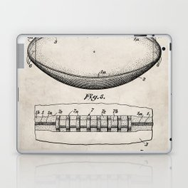 Football Patent - American Football Art - Antique Laptop & iPad Skin