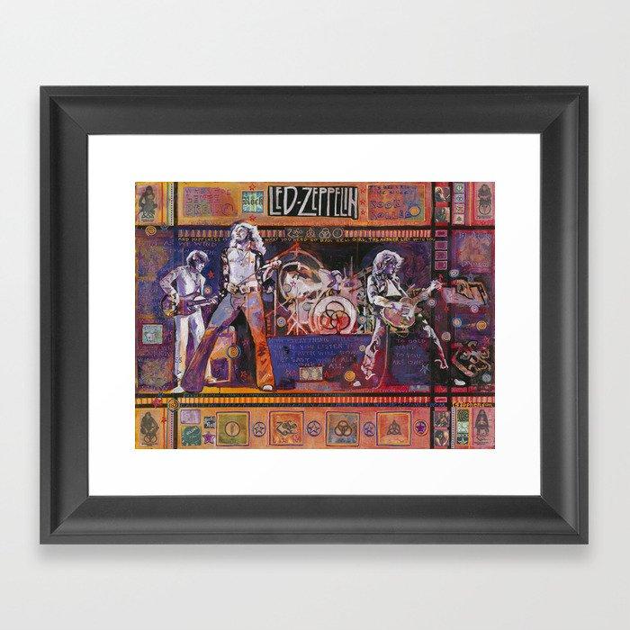 Rock and Roll Gerahmter Kunstdruck