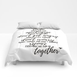 Rules of our house Comforters