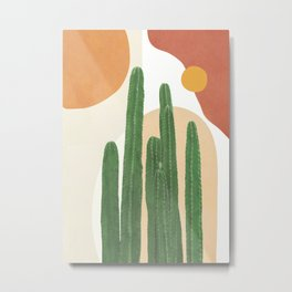 Abstract Cactus I Metal Print