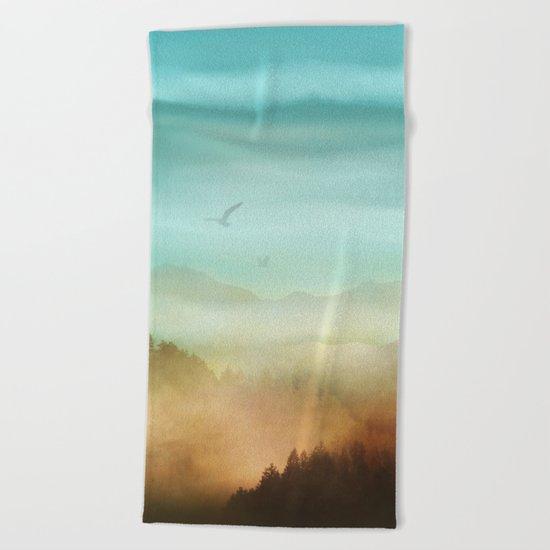 Autumn Flight Beach Towel