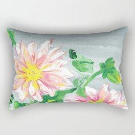 Dahlias for a cloudy day i Rectangular Pillow