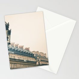 France Photography - Light Poles By French Buildings Stationery Cards