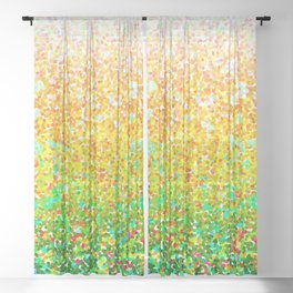Color Dots Background G73 Sheer Curtain