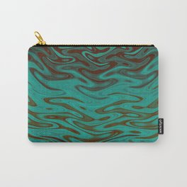 Ripples Fractal in Teals Carry-All Pouch
