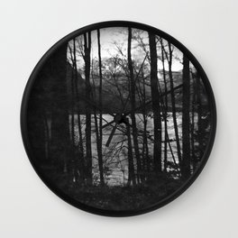 Behind the woods Wall Clock