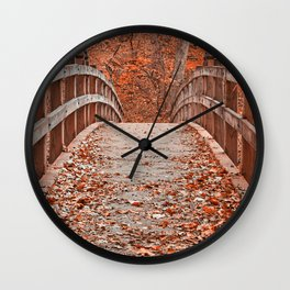 Ruby Red Bridge Wall Clock