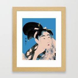 Utumaro #1 Blue Framed Art Print
