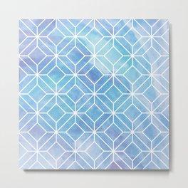 Geometric Crystals: Mermaid Galaxy Metal Print