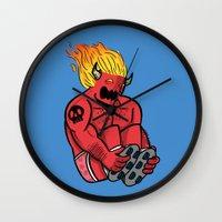 satan Wall Clocks featuring Satan Rollin' by KODYMASON