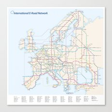 International E-Road Network Canvas Print