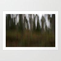 the rising pines Art Print