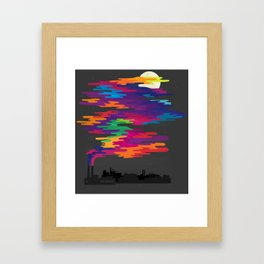 Hidden in the Smog (Night) Framed Art Print