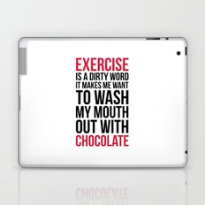 Exercise & Chocolate Funny Quote Laptop & iPad Skin
