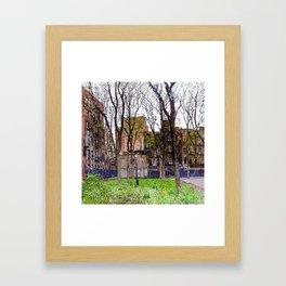 East Houston Woods Framed Art Print