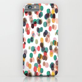 Tropical Relaxing Dots iPhone Case