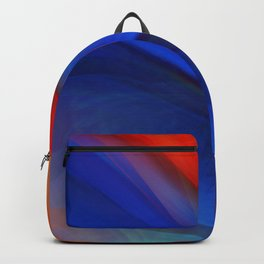 Bright orange and blue Backpack